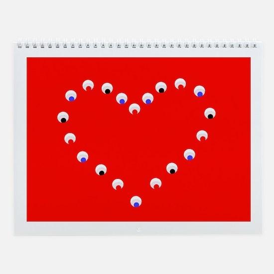 12 Months of Hearts Love Valentine's Wall Calendar