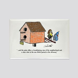 Flipping The Birdhouse Rectangle Magnet