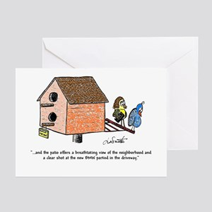 Flipping The Birdhouse Greeting Cards (Pk Of 20