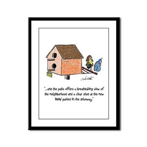 Flipping The Birdhouse Framed Panel Print