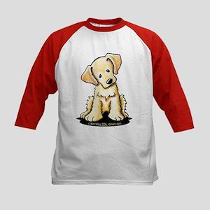 Lab Retriever Puppy Kids Baseball Jersey