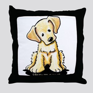 Lab Retriever Puppy Throw Pillow