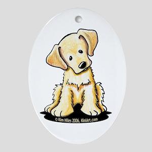 Lab Retriever Puppy Oval Ornament