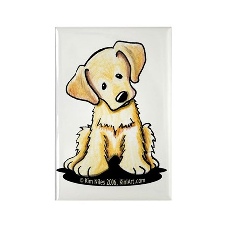 Lab Retriever Puppy Rectangle Magnet