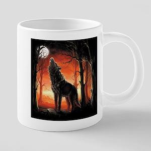 Howling Wolf 20 oz Ceramic Mega Mug