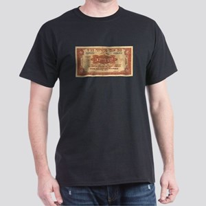 Five Palestine Pounds Black T-Shirt