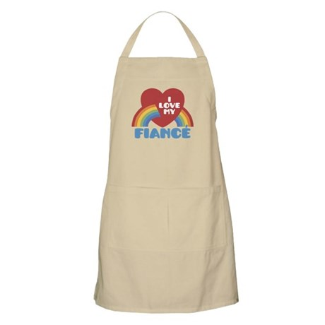 I Love My Fiance Apron