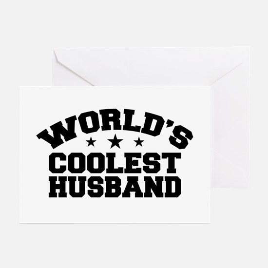 World's Coolest Husband Greeting Cards (Pk of 10)