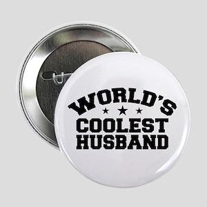 """World's Coolest Husband 2.25"""" Button"""