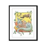 Dragon Reader Framed Panel Print