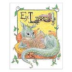 Dragon Reader Small Poster