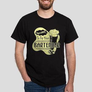 Tip Your Bartender Yellow Dark T-Shirt