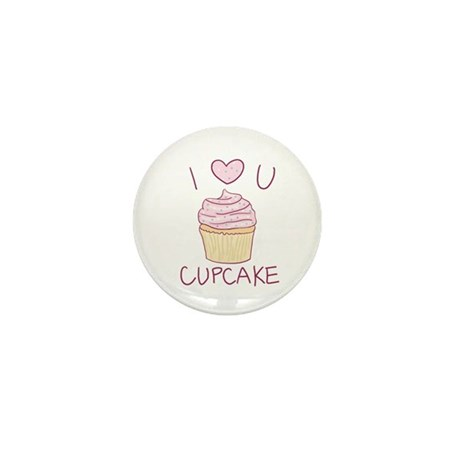I Heart U Cupcake - Mini Button (100 pack)