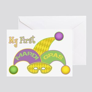 My First Mardi Gras Greeting Card