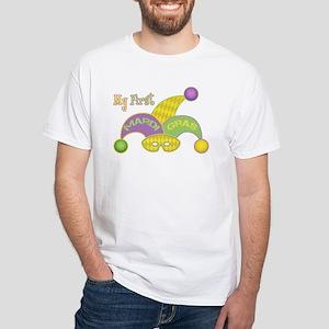 My First Mardi Gras White T-Shirt