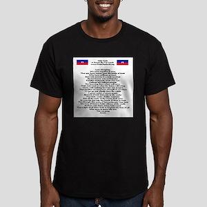 Pray For Haiti Men's Fitted T-Shirt (dark)