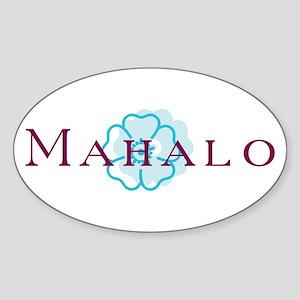 Mahalo Sticker (Oval)