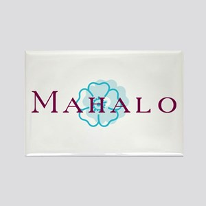 Mahalo Rectangle Magnet