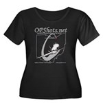 OPShots Women's Plus Size Scoop Neck Dark T-Shirt