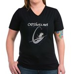 OPShots Women's V-Neck Dark T-Shirt