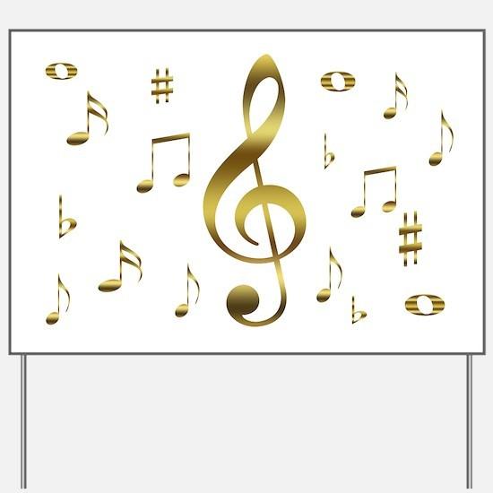 Music Gold Yard Sign