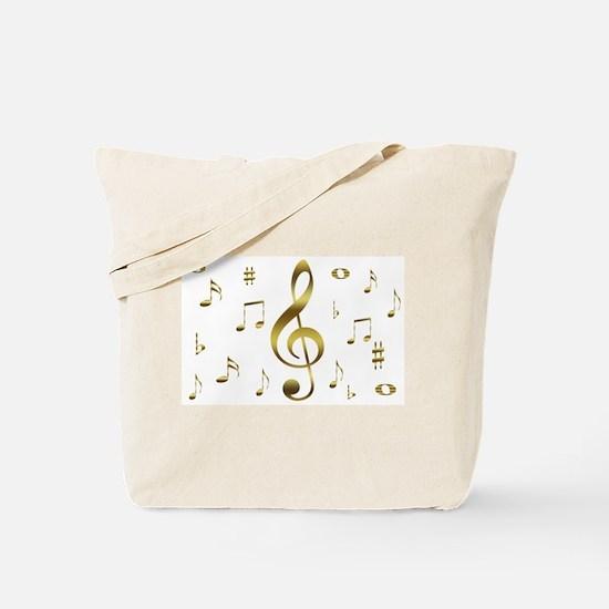 Music Gold Tote Bag