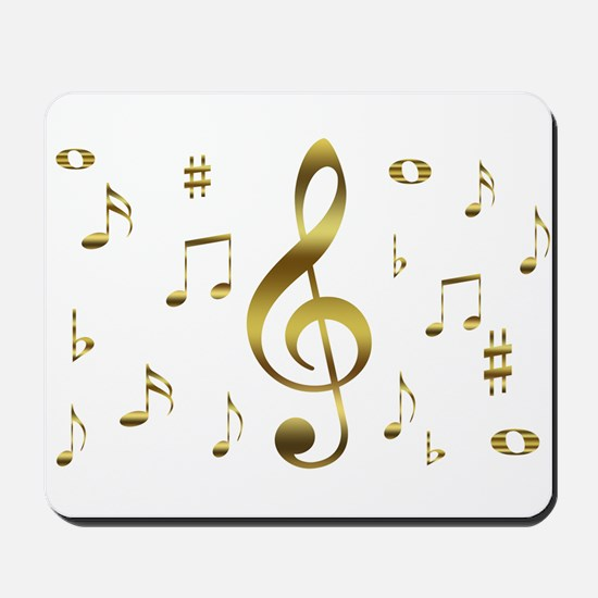 Music Gold Mousepad