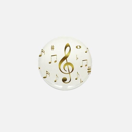 Music Gold Mini Button