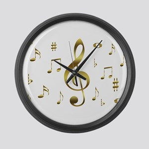 Music Gold Large Wall Clock
