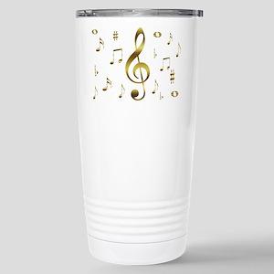 Music Gold Stainless Steel Travel Mug