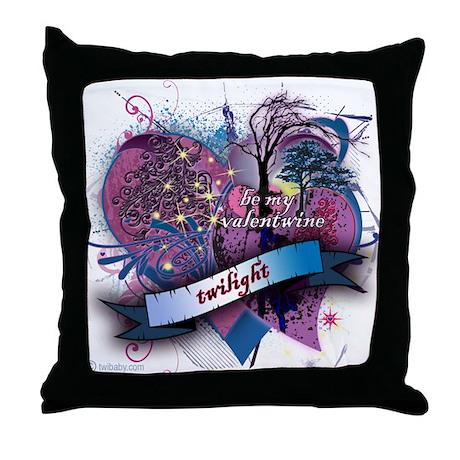 Twilight Valentwine Silhouette Throw Pillow