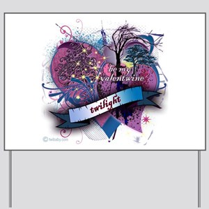 Twilight Valentwine Silhouette Yard Sign