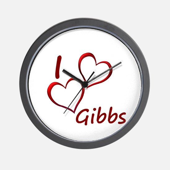 I love Gibbs Wall Clock