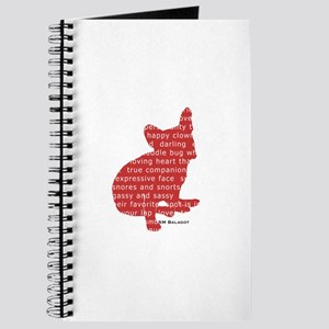 Red Word Silhouette (Sit) Journal