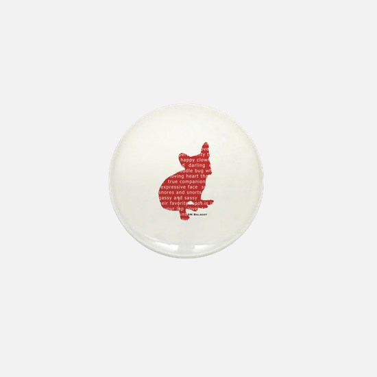 Red Word Silhouette (Sit) Mini Button