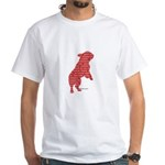 Red Word Silhouette (Beg) White T-Shirt