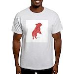 Red Word Silhouette (Beg) Light T-Shirt