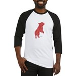 Red Word Silhouette (Beg) Baseball Jersey