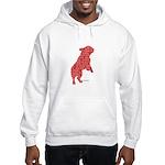 Red Word Silhouette (Beg) Hooded Sweatshirt