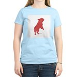 Red Word Silhouette (Beg) Women's Light T-Shirt