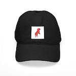 Red Word Silhouette (Beg) Black Cap
