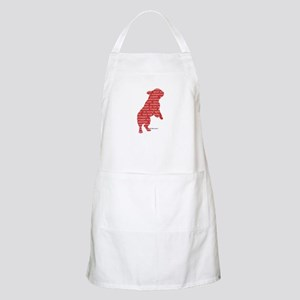 Red Word Silhouette (Beg) Apron