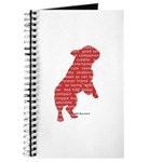 Red Word Silhouette (Beg) Journal