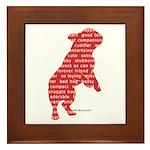Red Word Silhouette (Beg) Framed Tile