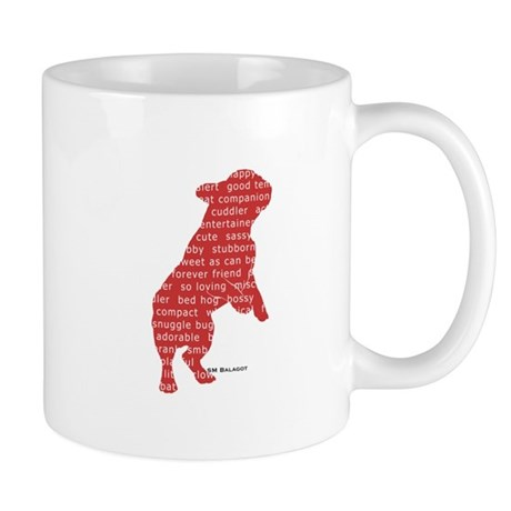 Red Word Silhouette (Beg) Mug