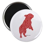 Red Word Silhouette (Beg) Magnet