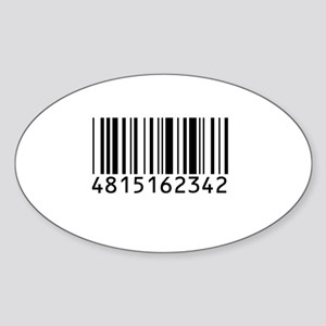 Barcode for 108 Oval Sticker