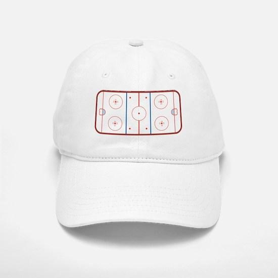 Hockey Rink Baseball Baseball Cap