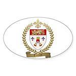 THIMOT Family Crest Oval Sticker (50 pk)