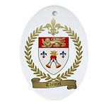 THIMOT Family Crest Oval Ornament